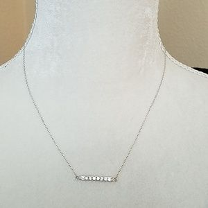 Jewelry - DAINTY CZ & STERLING SILVER NECKLACE